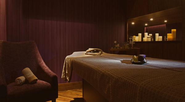 Spa massage treatment room